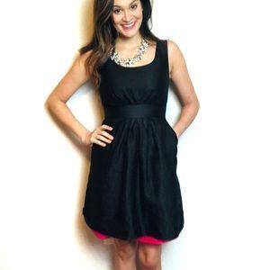 KATE SPADE silk black pink slip fit flare dress